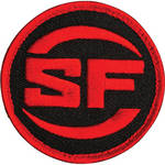 SureFire Logo Patch (Red on Black)