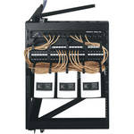 Middle Atlantic Open Swing Frame Wall Rack (12 Space)