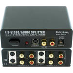 Shinybow SB-3716 1 x 4 S-Video & Stereo Audio Distribution Amplifier (Mini-DIN-4/RCA)