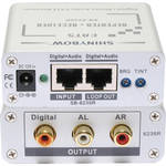 Shinybow SB-6235R CAT5 Composite Video Digital/Stereo Audio Receiver Repeater