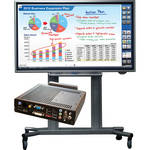 Sharp PN-L702B-PKG2A Bundle (Interactive Display, PC & Rolling Cart Floor Stand)