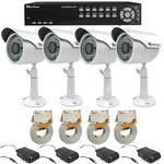 EverFocus ECOR264-4F2 4-channel H.264 DVR (500 GB) w/ Outdoor Bullet Camera Kit