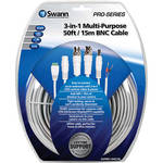 Swann 3-in-1 Multi-Purpose BNC Cable (50')
