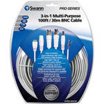 Swann 3-in-1 Multi-Purpose BNC Cable (100')