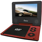 "Impecca DVP774R2 7"" Portable DVD Player (Red)"
