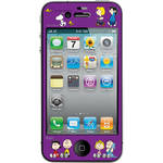 iLuv Snoopy Deco Film - Protective Film With Peanuts Design for iPhone 4S / 4 (Purple)