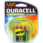 Duracell AAA NiMH Pre-Charged Rechargeable Batteries - Blister Pack of 4 (1.2V, 800mAh)