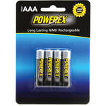 Powerex Rechargeable AAA NiMH Batteries (1.2V, 1000mAh) -4-Pack
