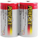 Powerex NiMH Rechargeable D Batteries (1.2V, 11,000mAh) - 2-Pack