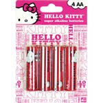 Sakar Hello Kitty Super AA Alkaline Batteries (1.5V) - 4-Pack