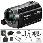 Panasonic 16GB HC-V500M Full HD Camcorder with Deluxe Accessories B&H Kit