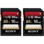 Sony 16GB SDHC Memory Card Class 10 UHS-I - 2-Pack