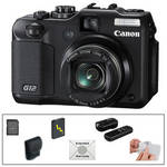 Canon PowerShot G12 Digital Camera with Deluxe Accessory Kit