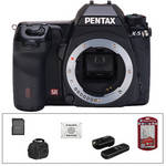 Pentax K-5 Digital SLR Camera (Body Only) (Black) with Basic Accessory Kit