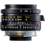 Leica 35mm f/2.0 Summicron M Aspherical Manual Focus Lens (6-Bit) - Black