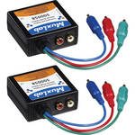 MuxLab Component Video & Stereo Analog Audio 2-Pack Balun Kit