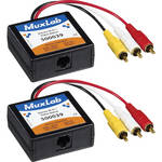 MuxLab Stereo Hi-Fi / Video Balun 2-Pack Kit