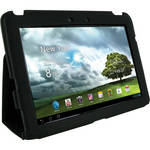 rooCASE Ultra-Slim Vegan Leather Folio Case for Asus Transformer Pad Infinity TF700T (Black)