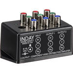 Inday HDDA-2 HDTV 1 x 2 YPbPr Component Video Distribution Amplifier