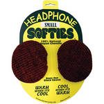 PSC Headphone Softie - Pair of Soft Headphone Earpad Covers (Small-Red)