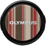 Olympus LC-37PR Brown Stripe Decorative Lens Cap