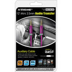 Xtreme Cables Mini 3.5mm Metallic Audio Transfer Auxiliary Cable - 6' (Purple)