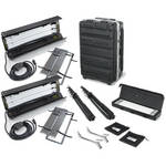 Kino Flo Dual Diva-Lite 201 Fixtures with Flight Case Kit (230VAC)