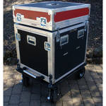 "BigFoot BH10RU/24D 10RU 22"" Rack Wide Roadie Cube Cart"