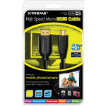 Xtreme Cables High Speed Micro HDMI Cable (3')