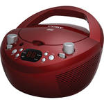 Coby CXCD251 Portable CD Player with AM/FM Stereo Tuner (Red)