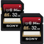 Sony 32GB SDHC Memory Card Class 10 UHS-I (2-Pack)