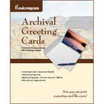 Inkpress Media Pre-Scored Archival Greeting Card Paper with Matching Envelopes (11 x 7.26'', 20 Sheets)