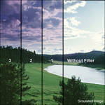 "Tiffen 3 x 3"" 1 Grape Hard-Edge Graduated Filter"