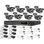 ARM Electronics HR Real-Time 16-Channel H.264 DVR (1 TB) with (8) BCIR Outdoor IR Bullet Cameras Kit