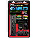 Xtreme Cables 3-Piece Home/Office Power Supply Kit (12 Outlet Combined Power)