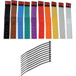 "Pearstone 1 x 6"" Touch Fastener Cable Straps (Multi-Colored, 10-Pack)"