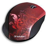 Verbatim Wireless Optical Design Mouse (Red Design)