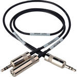 Sescom LN2MIC-TAS-MON Tascam DR-100 35d 3.5mm Line to Microphone Cable with Monitoring Tap