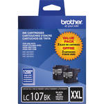 Brother LC1072PKS 2 Innobella Super High Yield Black Ink Cartridges