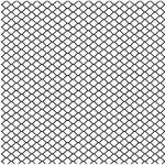 Gam Single Panel Chain Link Fence Cookie Roll (4.0 x 4.0')