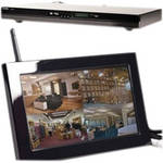 KJB Security Products C1555 Zone Shield Wireless DVD Player with QUAD LCD Receiver