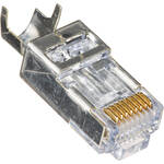 Platinum Tools Shielded EZ-RJ45 Connectors for CAT5e & CAT6 with External Ground (Clamshell Packaging, 10-Pieces)
