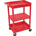 Luxor RDSTC121RD Utility Tub Cart (Red)