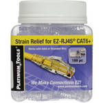 Platinum Tools EZ-RJ45 CAT6 Snag-Proof Strain Reliefs (Jar Packaging, 100-Pack)