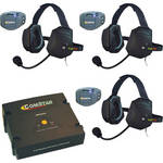 Eartec ComStar Com-Center Intercom Kit with 3 Beltpacks & 3 Xtreme Headsets