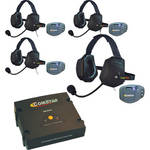 Eartec ComStar Com-Center Intercom Kit with 4 Beltpacks & 4 Xtreme Headsets