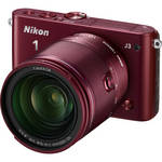 Nikon 1 J3 Mirrorless Digital Camera with 10-100mm Lens (Red)