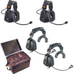 Eartec TCS 4000 4-Person Wired Intercom System With Four Ultra Headsets