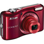 Nikon COOLPIX L28 Digital Camera (Red)