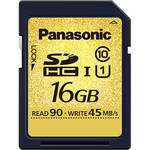 Panasonic 16GB SDHC Memory Card Gold Series Class 10 UHS-1
